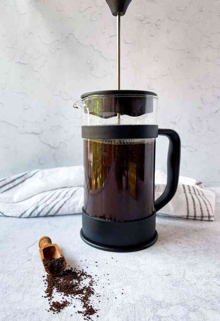 Cold brew made in a french press