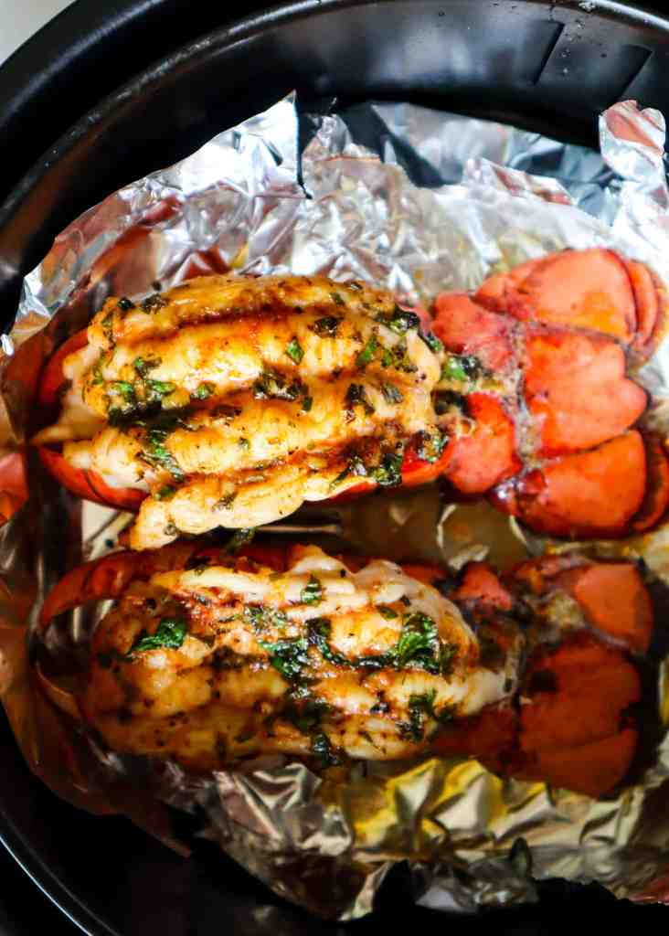 Lobster tail in the air fryer