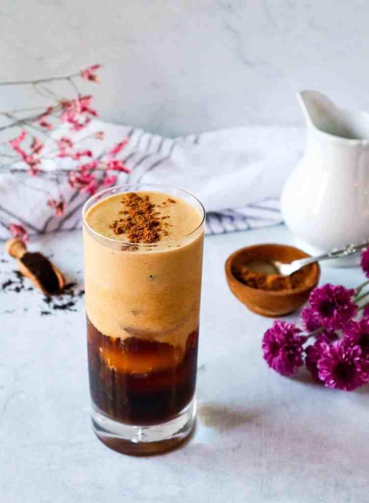 Vegan Pumpkin Cream Cold Brew Starbucks Copycat Drink