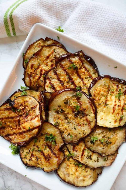 Grilled Garlic Herb Eggplant
