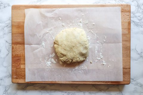Ingredients molded together gluten free crust