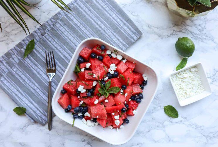 Watermelon Mint Salad Good Food Baddie