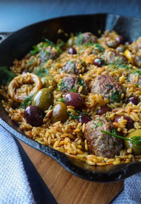 lamb meatballs dish