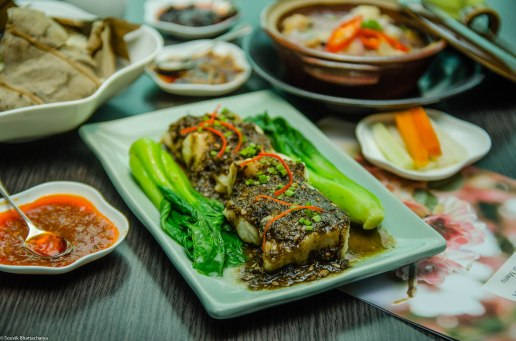 Steamed Snapper in Spicy Ganchoi Sauce