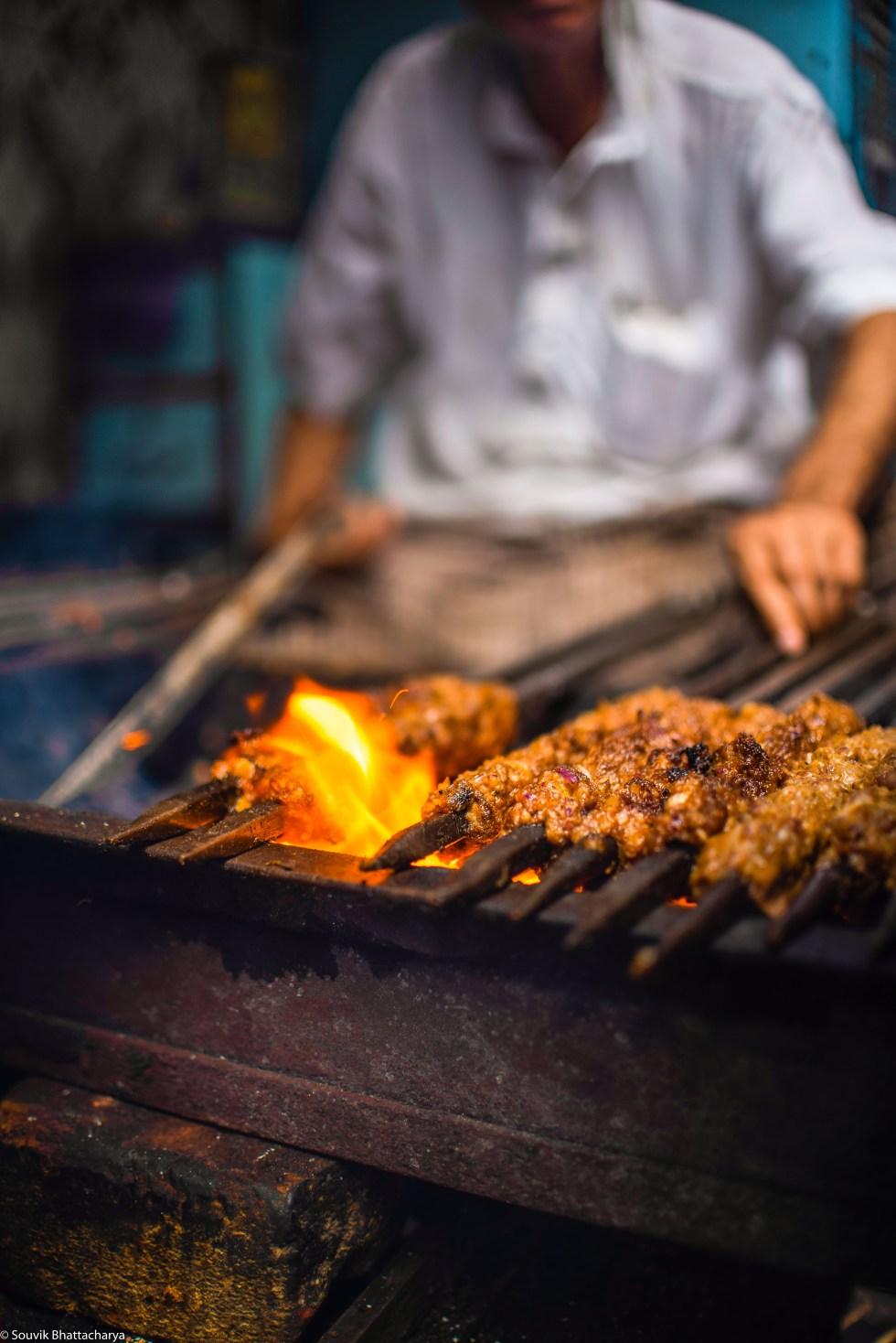 Suta Kabab and Boti Kabab in Adam's Kabab Shop, Zakaria Street Kolkata