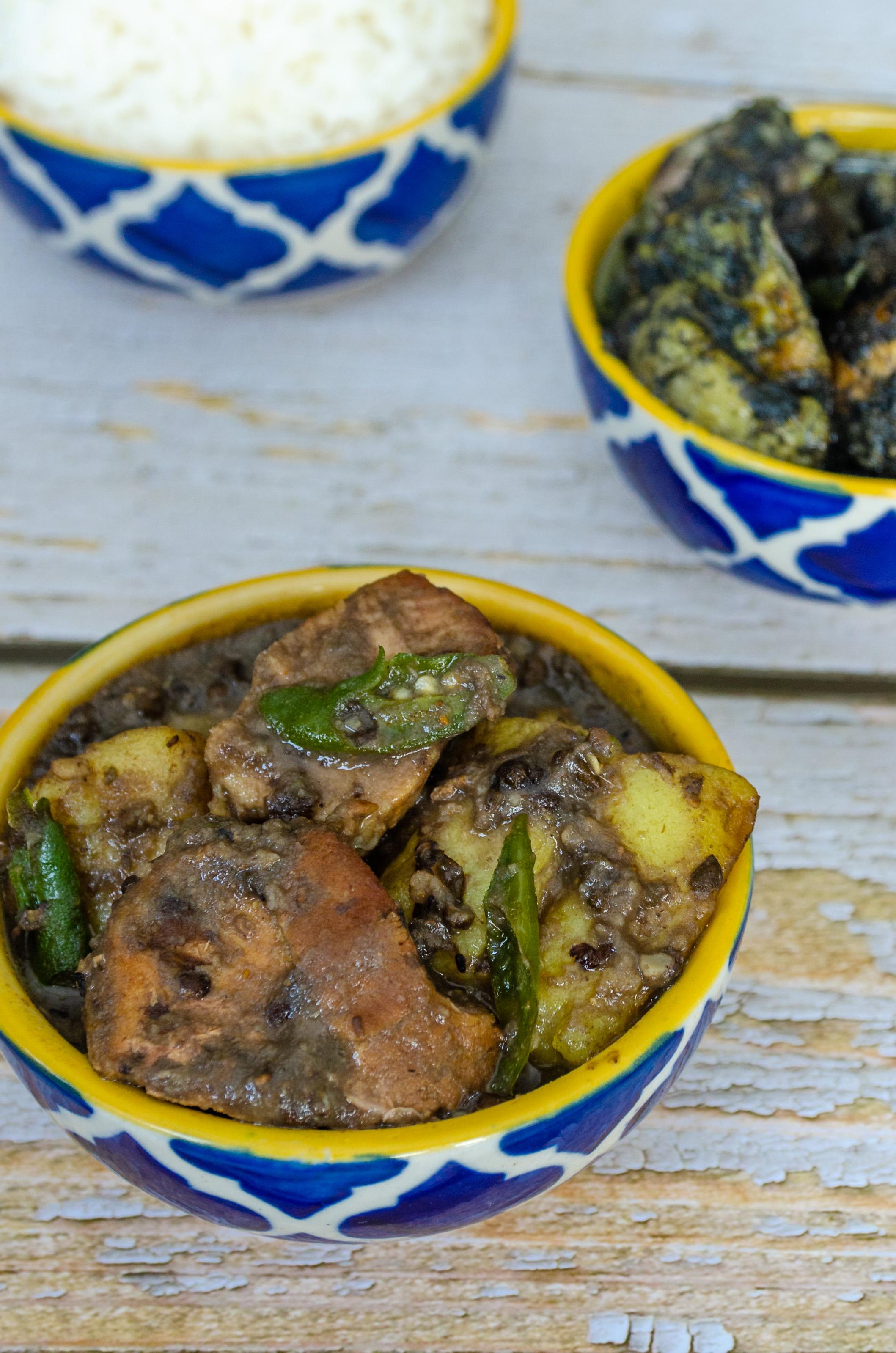 Mati Dali Pork, Pork Urad Daal, Pork Black Gram, Let's Poaka. Kolkata
