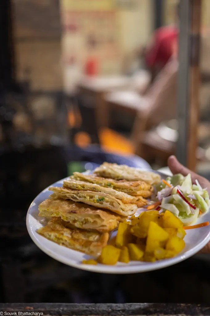 Kumartuli food - Dhiren Cabin - Moghlai Porota