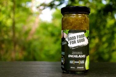 GOOD FOOD FOR GOOD Tomatillo Enchilada Sauce- Fresh Mexican Sauce