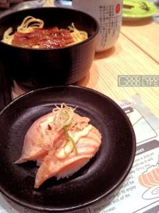 roasted fatty salmon