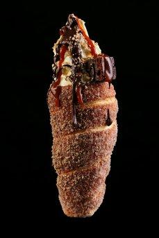 Chimney King - vanilla ice cream, nuts,chocolate brownies, saltedcaramel, chocolate toping