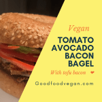 Vegan Tomato Avocado Bacon Bagel