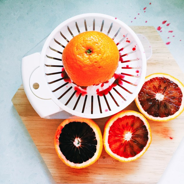 Juicing blood oranges from Redbelly Citrus