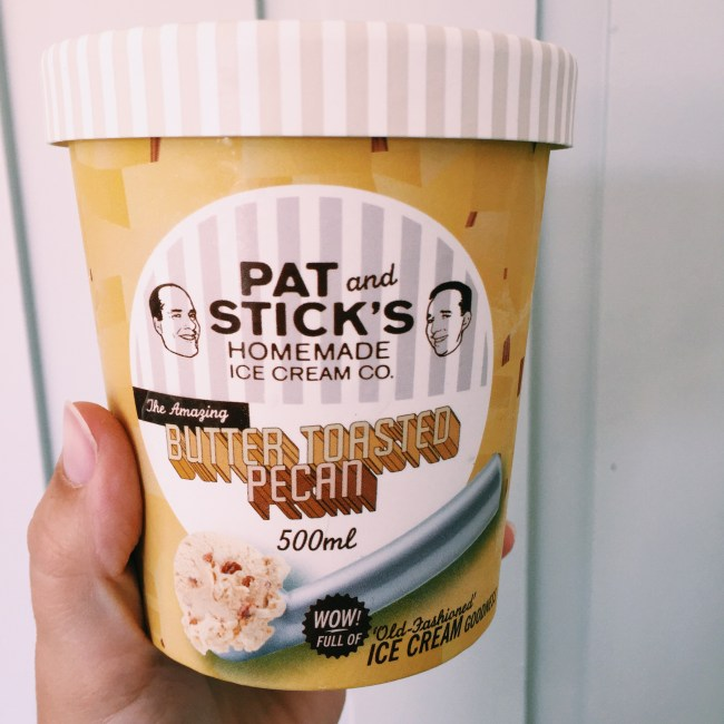 Pat and Stick's Buttered Toasted Pecan Icecream