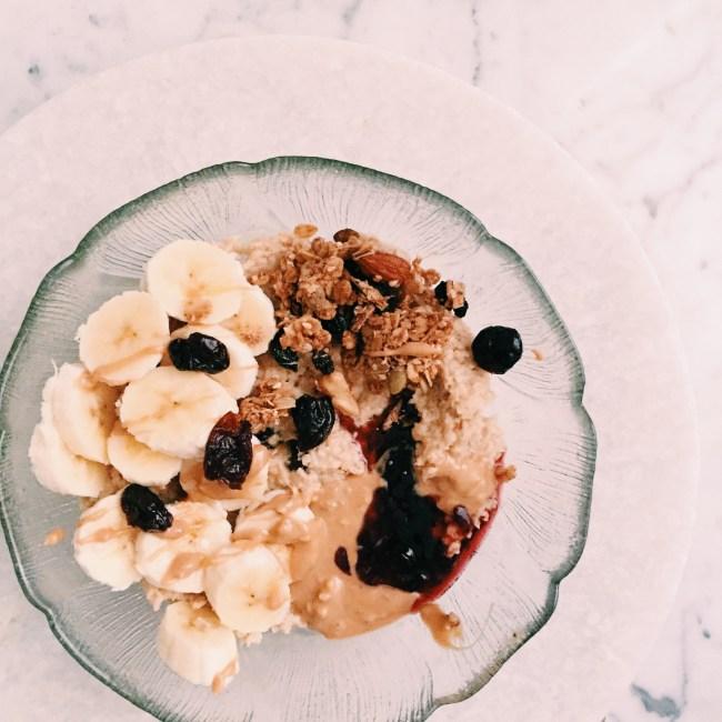 GoodFoodWeek's almond milk and sour cherry porridge