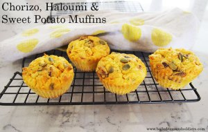 Guest post: Chorizo, Haloumi & Sweet Potato Muffins from Boiled Eggs and Soldiers