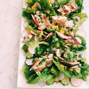 Recipe: Chicken and Mango salad in lettuce cups