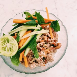 Recipe: spiced chicken and quinoa bowl