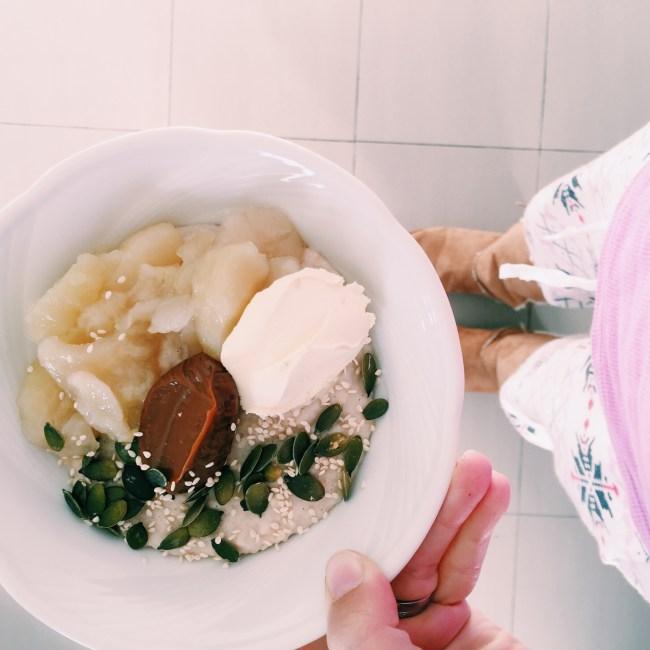 Delicious porridge on a cold winter's morning