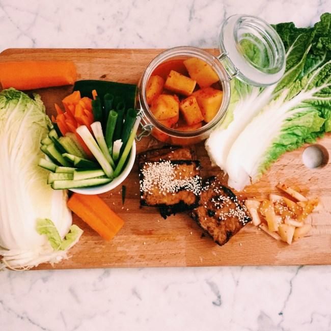 Recipe: Vegan Hoi Sin Tofu in wombok wraps