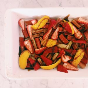 Recipe: Roast strawberries and rhubarb