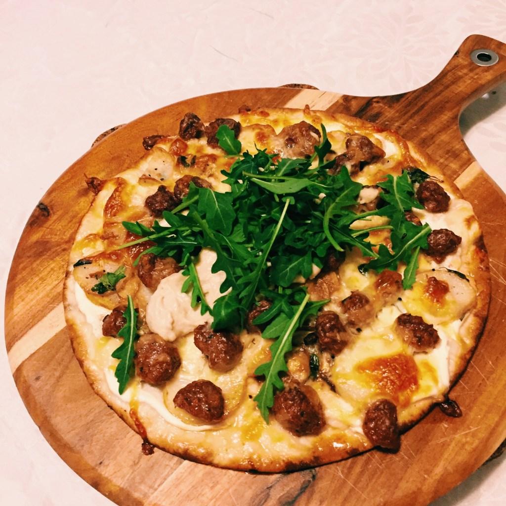 GoodFoodWeek's quick lamb pizza
