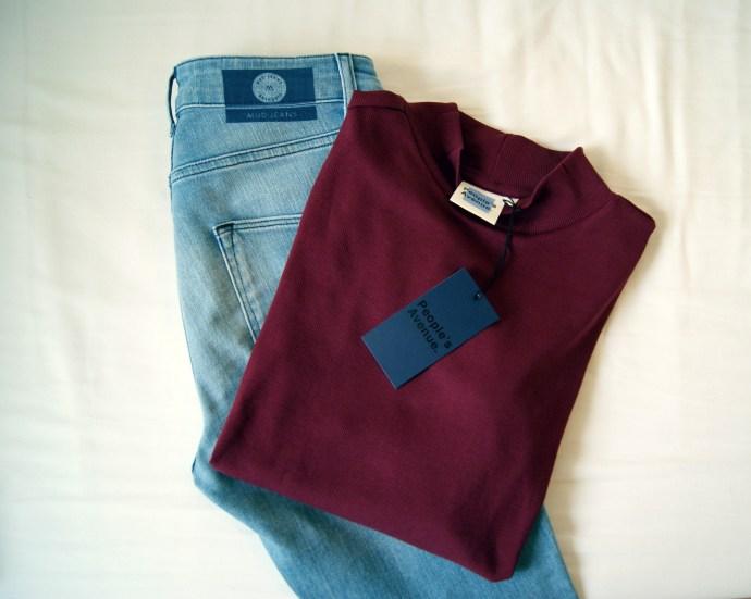 Vegan Mud Jeans en vegan trui van Peoples Avenue