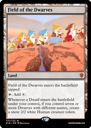 Field of the Dwarves magic card