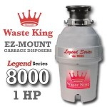 Waste King Legend Series 1 HP Continuous Feed Garbage Disposal with Power Cord - (L-8000) Reviews
