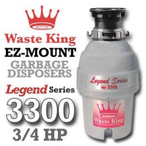 Waste King Legend Series ¾ L-3300 Reviews