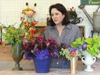 Debra Prinzing with arranged flowers