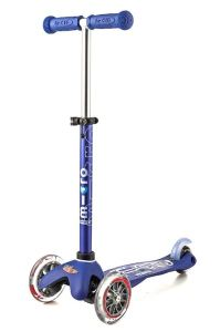Blue Micro 3 Wheel Scooter. Great developmental toys. One of our favorite picks for toys for 3 year old boys