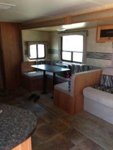 shadow cruiser camper travel trailer inside view