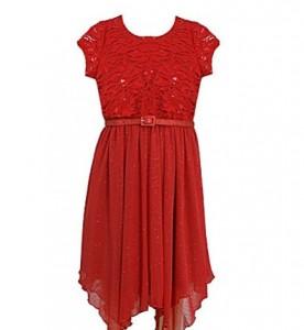 Bonnie Jean Spangle-Lace-Bodice Sheer-Skirted Dress_kerstjurkjes voor meisjes_kerstkleding_luxe jurken