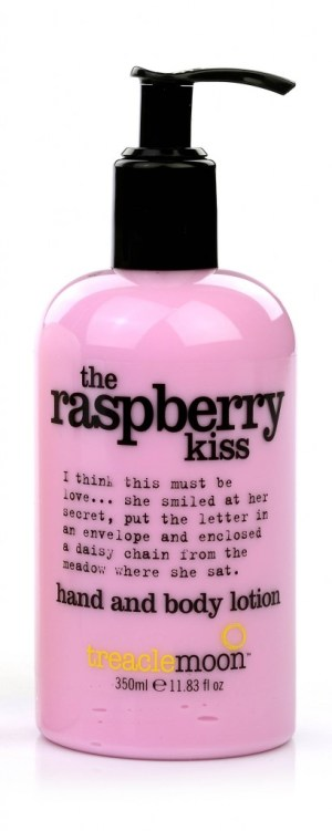 Treacle Moon hand and body lotion the raspberry kiss