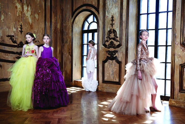 Mischka Aoki_ Spring Summer 2015_high end fashion and couture for kids