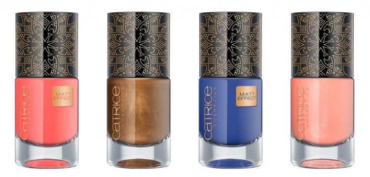 Nail Lacquer in Nomaddicted to Red, Wanderluxe, Trip in to the blue en Boundless Peach €2,99