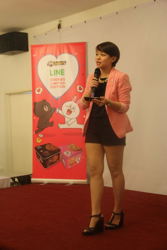 Patricia Yeoh from Line speaks at The Julie's Line Limited Edition Cookie Launch