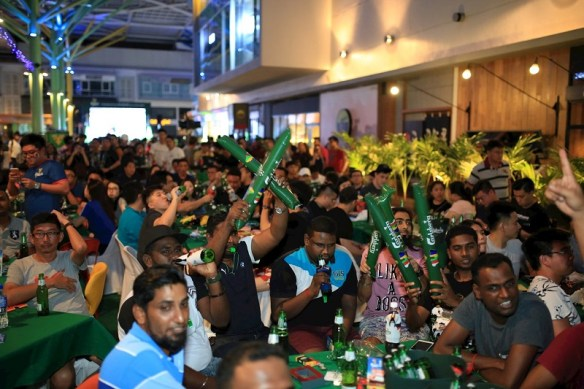 "Some 1,000 football fans and beer lovers celebrated the finale of the world's most anticipated football tournament at Carlsberg's ""Probably The Best Football Parties""."