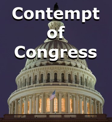 Capitol Dome US Contempt of Congress Conservative