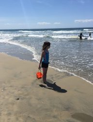 Lauren at the beach