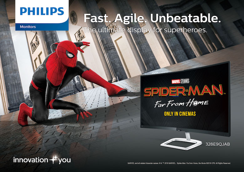 Philips Monitors signs partnership with Sony Pictures' Spider-Man™: Far From Home | Good Guy Gadgets