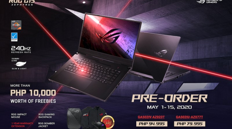 The ROG Zephyrus G15 Ultra-Slim Gaming Notebook with the latest AMD Ryzen Processors now available for Pre-order | Good Guy Gadgets