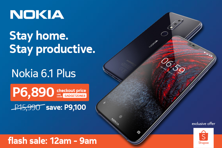 FLASH SALE: Nokia 6.1 Plus gets over 50% discount at Shopee starting May 30 | Good Guy Gadgets