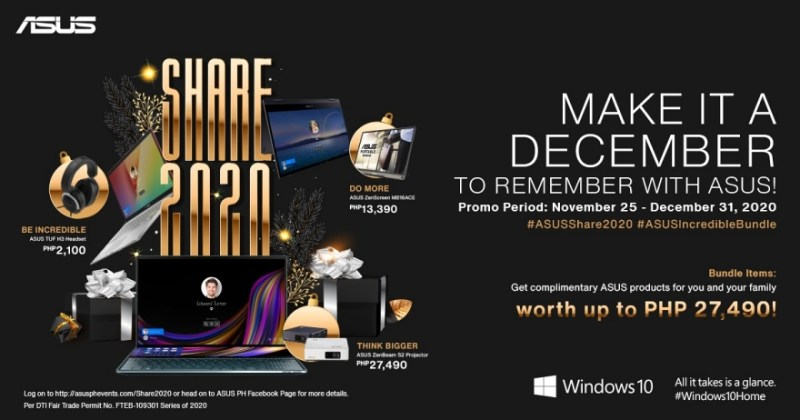 Make it a December to remember with the ASUS Share 2020 | Good Guy Gadgets