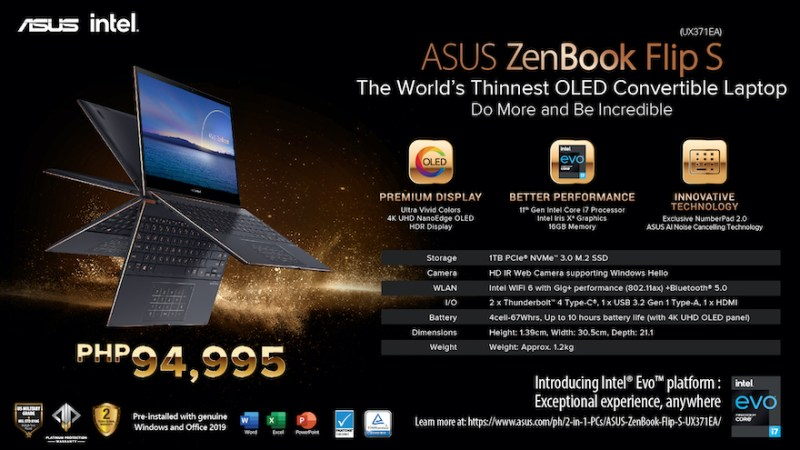 Do more with the ASUS Zenbook Flip S (UX371), the world's thinnest OLED convertible laptop | Good Guy Gadgets