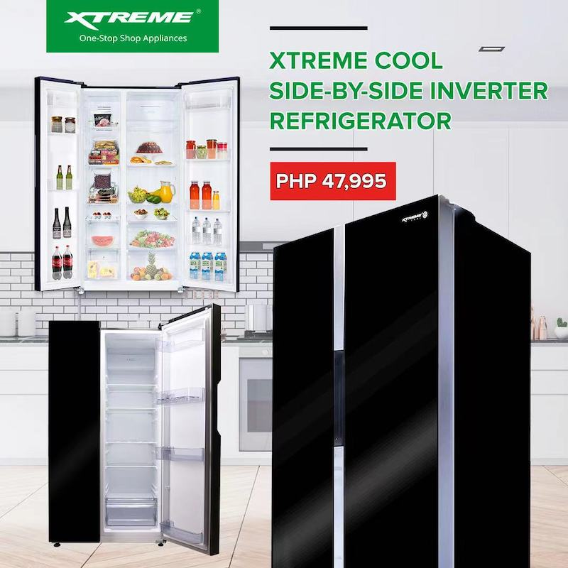 Upgrade your kitchen and keep food fresh with XTREME Cool Side-by-Side Inverter Refrigerator | Good Guy Gadgets