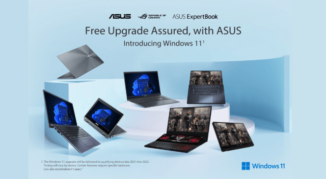 ASUS and ROG Laptops to be updated with the new Windows 11    Good Guy Gadgets