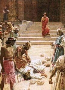 The Murder of Zechariah by William Brassey Hole.
