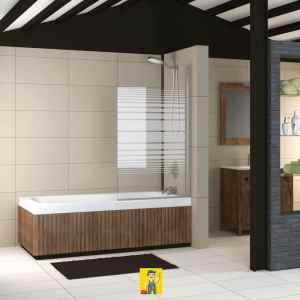 mampara bañera modelo marsella abatible decorado