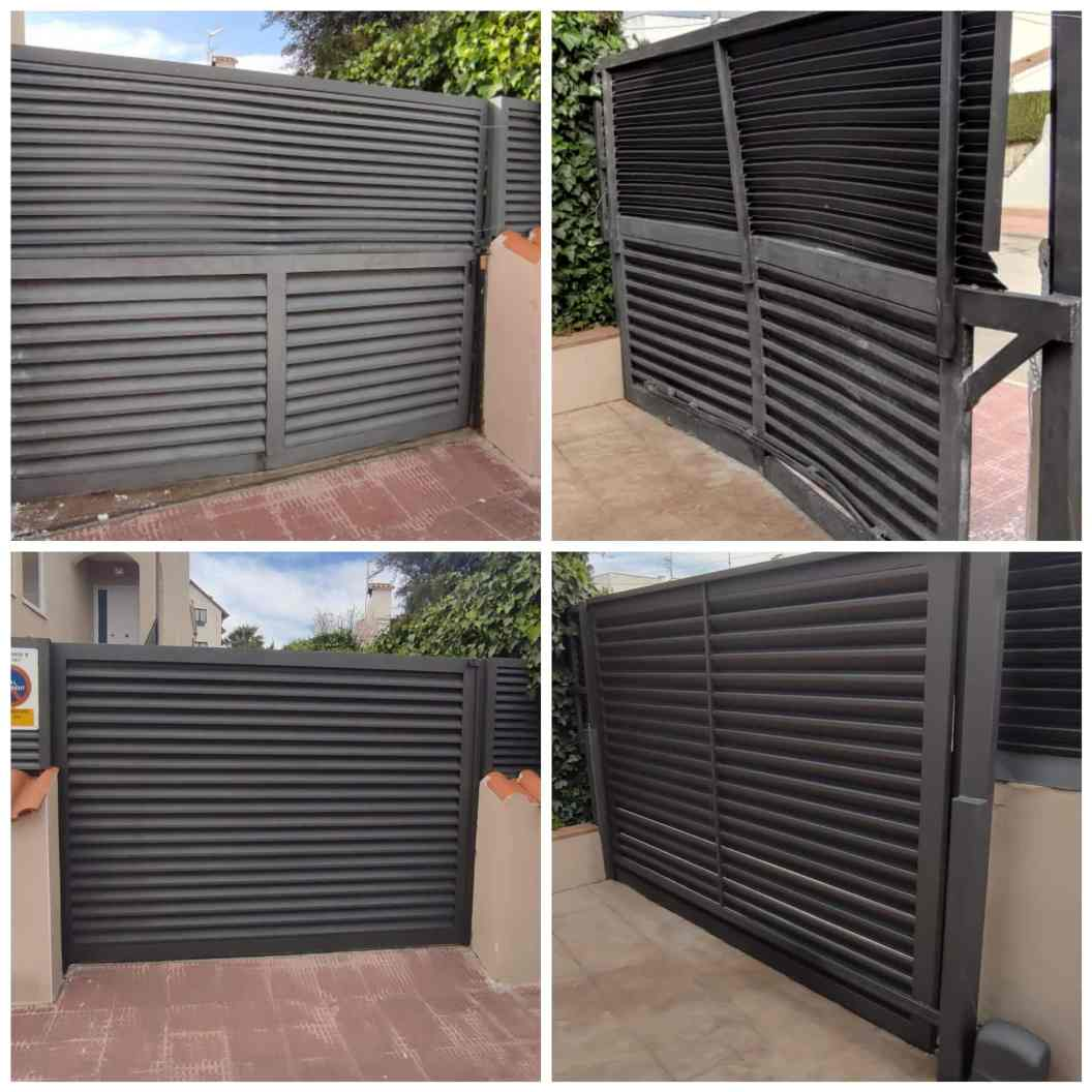 Instalación de puerta corredera en Cunit